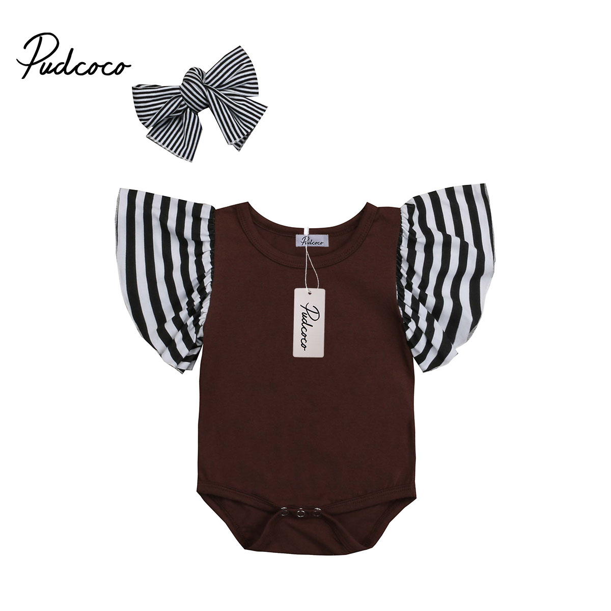 A14UBP Baby Infant Toddler Long Sleeve Climb Romper American Flag Irish Flag Puzzle Heart Playsuit Outfit Clothes