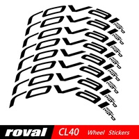 Two Wheel Stickers Set for Roval CL40 CL 40 Rim Brake Carbon Road Bike Bicycle Cycling Decals