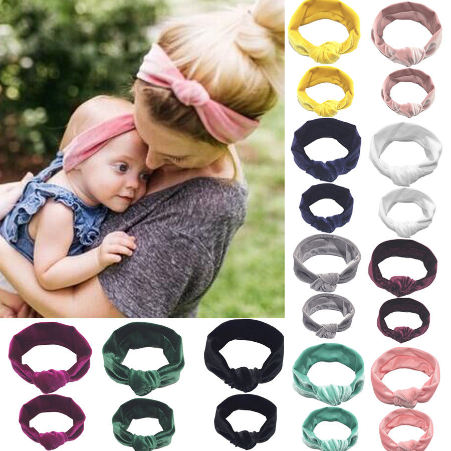 2pcs-mother-daughter-headwear-kid-girl-baby-toddler-bow-headband-hair-band-accessories