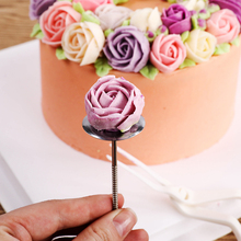 stainless steel silk flower 3d ice cream cake decorative accessories needle nail baking tools