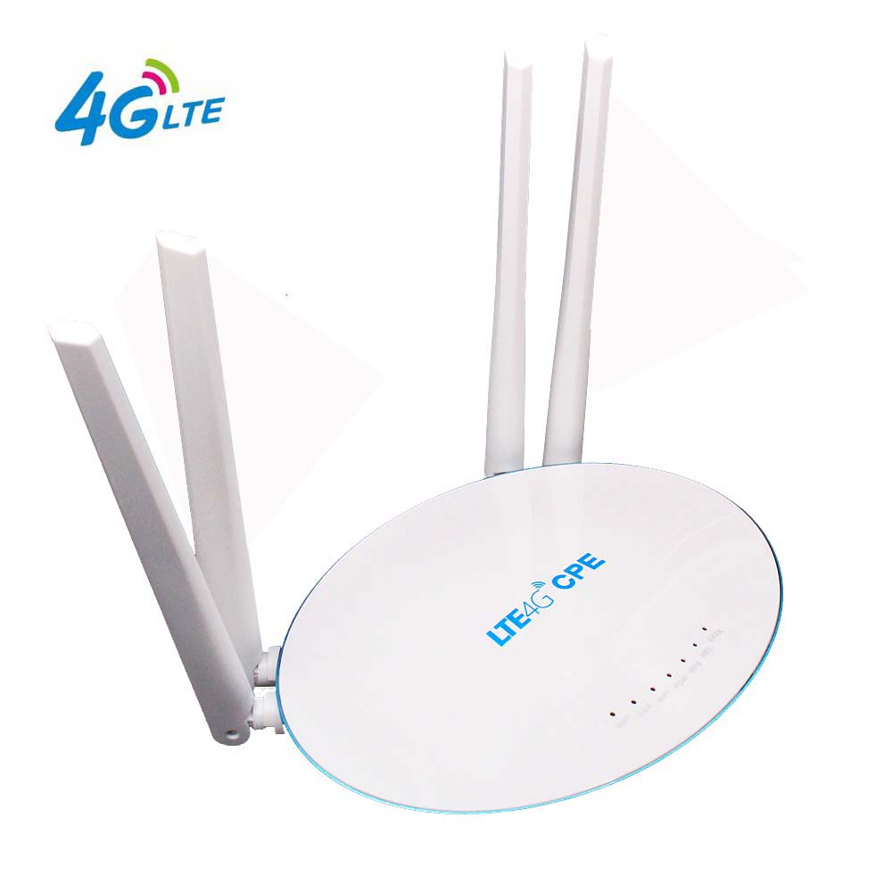 Yeacomm 4G LTE Indoor CPE Mobile WiFi Router with SIM Card Slot External Antenna High Speed