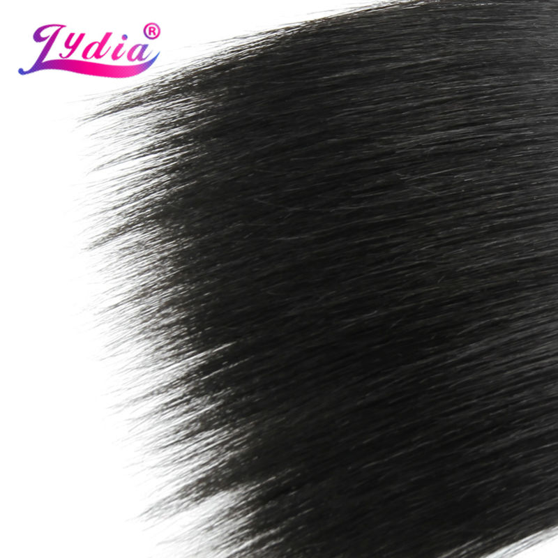 Image 5 - Lydia Synthetic Hair Extension 3PCS/lot Hair Weaving Straight Yaki 10 26 Inch 100% Futura Hair Weft Natral Color BundlesSynthetic Weave   -