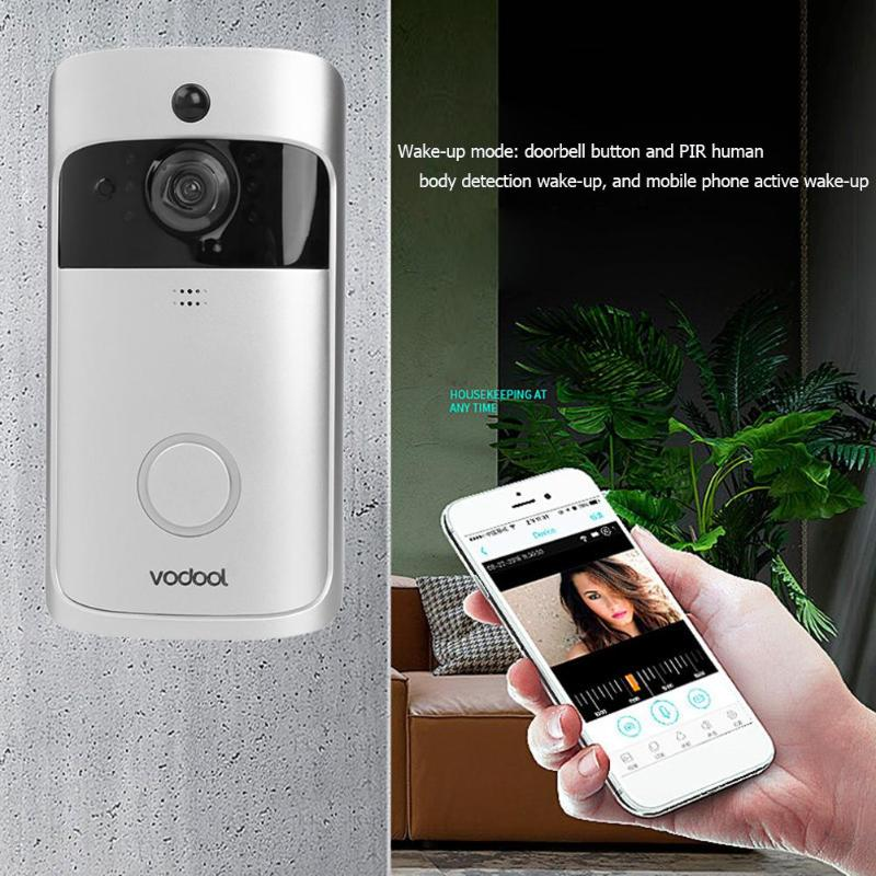 Vodool V5 WiFi Video Doorbell Camera 720p Visual Call Intercom with Chime Mobile phone remote intelligent visual doorbellVodool V5 WiFi Video Doorbell Camera 720p Visual Call Intercom with Chime Mobile phone remote intelligent visual doorbell