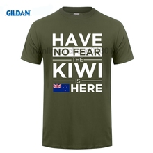 GILDAN 2018 Cotton Tee Shirt Homme Fitness Have No Fear The Kiwi Is Here Pride Tshirt Proud New Zealand design T-Shirt