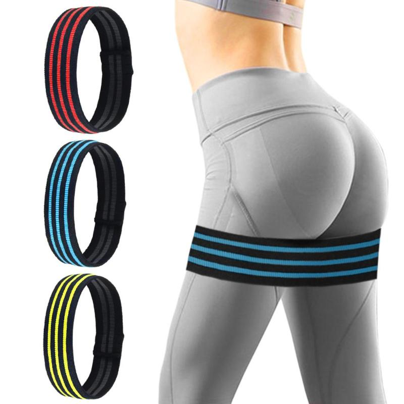 Non Slip Workout Bands: High Elastic Yoga Belt Sport Bands Hip Circle Fitness