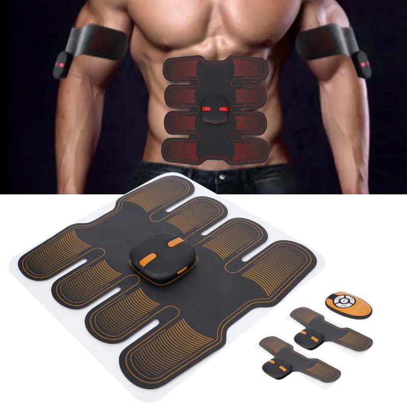 Abdominal Machine EMS Wireless Muscle Stimulator Trainer Smart Fitness Fat Burning Figure Shaping Electric Weight Loss Sticker