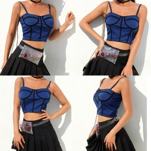 Sommer Neue Frauen Zipper Fashion Swallow Gird Tank Top Ärmelloses Damen Sexy Chic Strappy Crop Top Weste Hindernis Entfernen Oberteile Und T-shirts