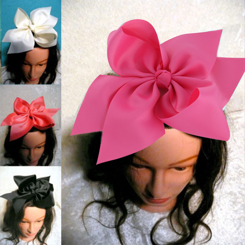 10 Inch Boutique Grosgrain Ribbon Bow Girls' Hairpins With Alligator Clip Big Bowknot Hair Clips Children   Headwear   Free Shipping