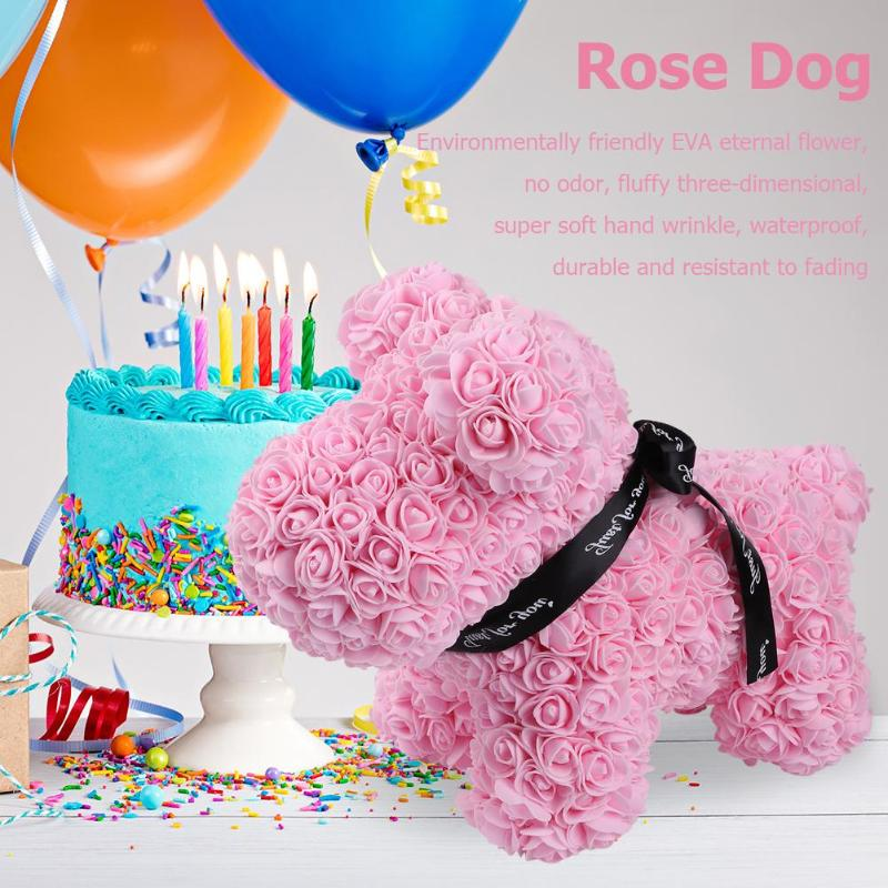 Flowers For Wedding Gift: Valentines Gift 38cm Hot Sale Dog Rose Soap Foam Flower