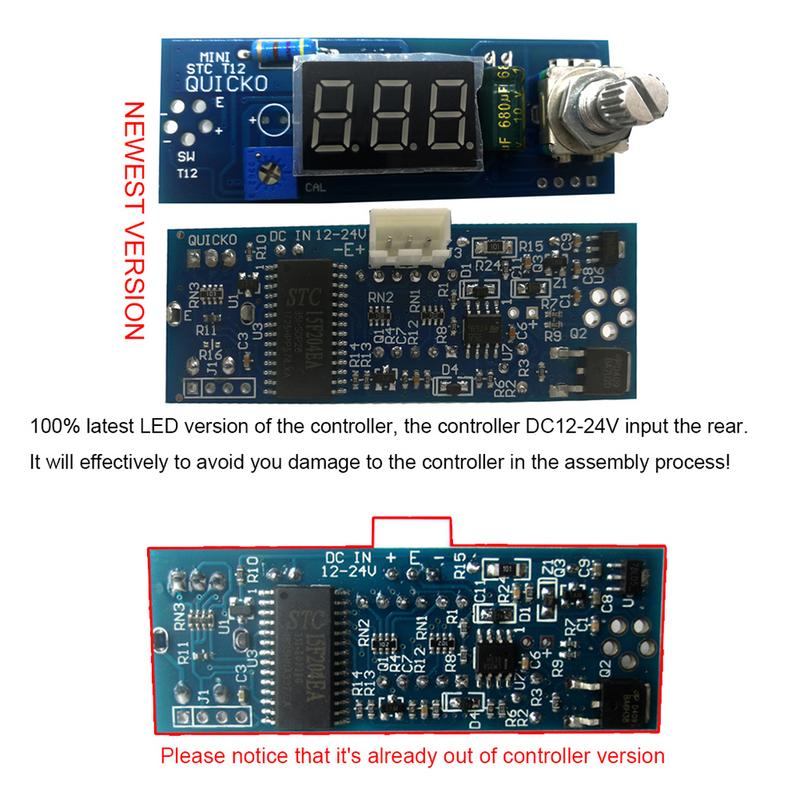 Electrical Unit Soldering Iron Digital Temperature Controller Station LED DIY Kits For T12 Use Handle Default K Head