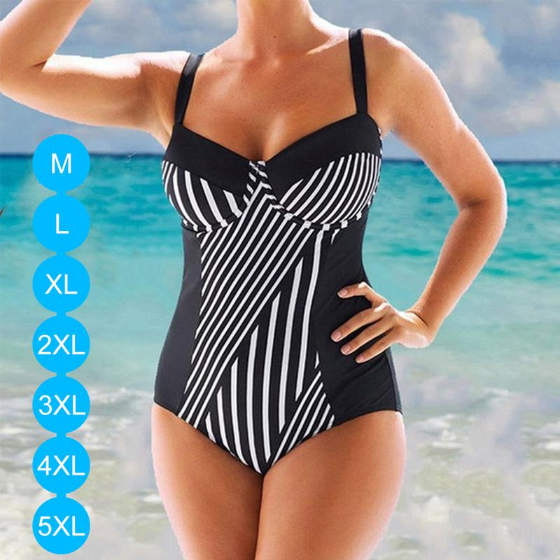 1f4274dbc00 Detail Feedback Questions about 2019 5XL Large Big Plus Size Swimwear For Women  Sexy One Piece Swimsuit Slimming Female Print Retro Beach Bathing Suit ...