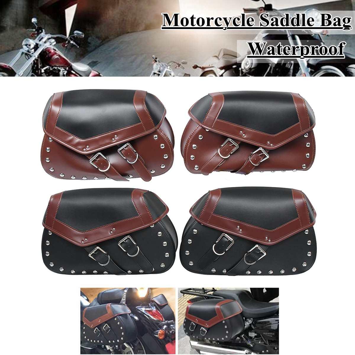 Paire Universal Moto maillot de football Bagages Sacoche Côté De Stockage pochette d'outil Pour Harley/Honda