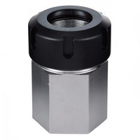 BHTS 1pc Spring Chuck Collet Holder Hex ER32 Collet Block 45x65mm For Lathe Engraving Machine