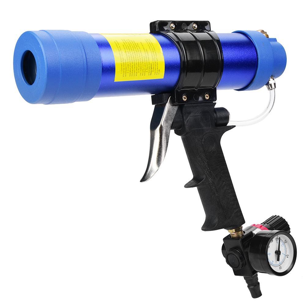 Adjustable Pneumatic Glass Glue Sealant Caulk Gun Cartridge Air Gun 310ML Hard Glue Sealant Applicator Caulking Gun Tool New