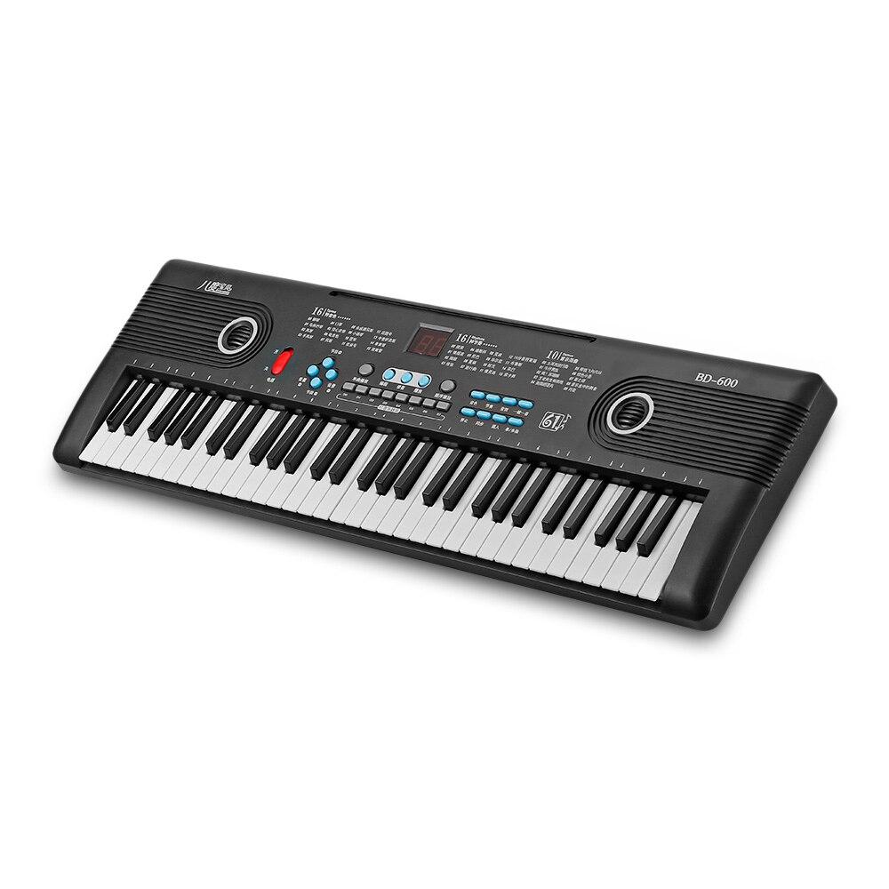 BD MUSIQUE BD-600 Multifonctionnel Piano Électronique 16-Ton 16-Rythme 61-Clé Piano Clavier Musical instrument