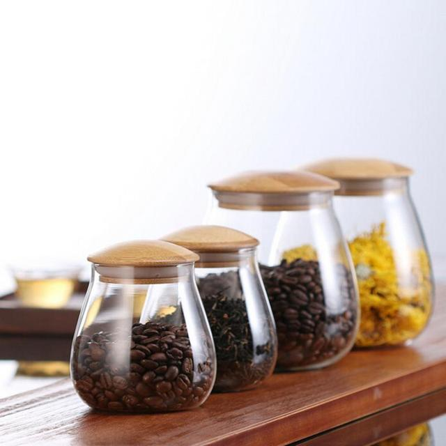 Glass Jars Mason Jar Transparent Storage Can Cork Stopper Bottle Candy Glass Bottles Containers Sealed Tea Coffee Storage Tank 1