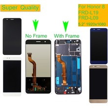 10Pcs/lot LCD For HUAWEI Honor 8 Display Touch Screen Digitizer with Frame Honor8 FRD-L19 FRD-L09 Assembly Complete