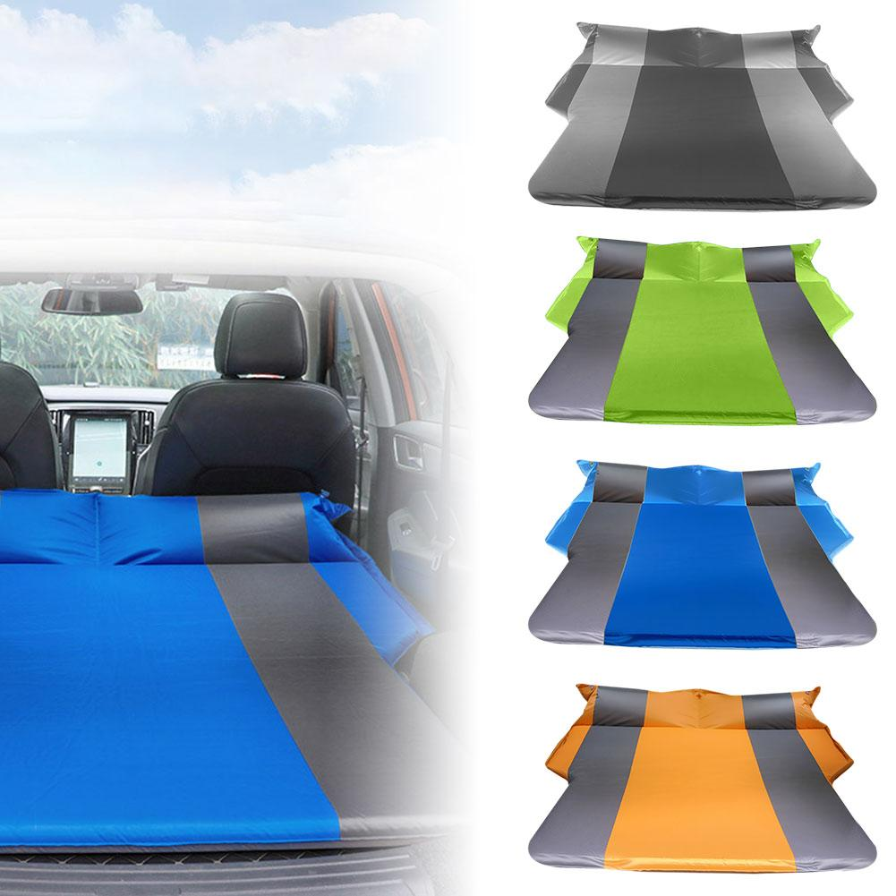 1pc Car Automatic Air Bed SUV Trunk Travel Air Bed Mattress Portable Camping Outdoor Mattress Support For 2-3 People