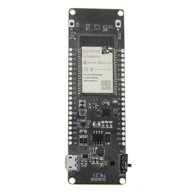 Tarjeta de desarrollo de batería Ttgo t energy Esp32, Psram Esp32 Wrover B, Wifi, Bluetooth, módulo 18650, indicador de potencia, lámpara roja