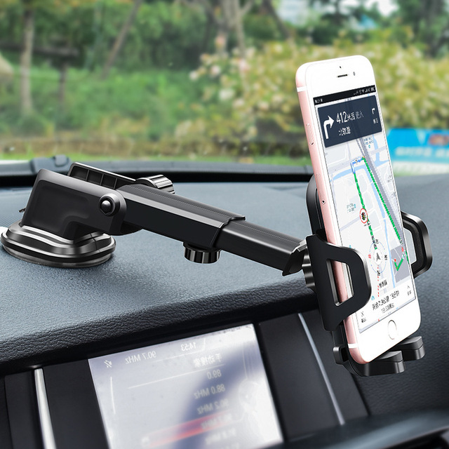 Windshield Sucker Adjustable Car Phone Holder for IPhone Car Mobile Stand Holder Support for Mobile Phone Car Accesories