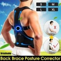 SGODDE черный Регулируемый магнитный Корректор осанки поддержка для спины и плечей корсетный браслет S/M/L/XL Для мужчин Beltband выпрямитель