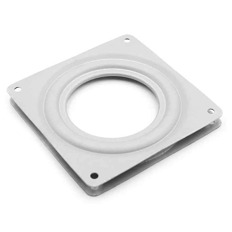 4.5 polegada Projetos Mecânicos Quadrado Exposição Turntable Placa Giratória Do Rolamento Dobradiças Base de Hardware Ferramenta de Montagem de Mesa
