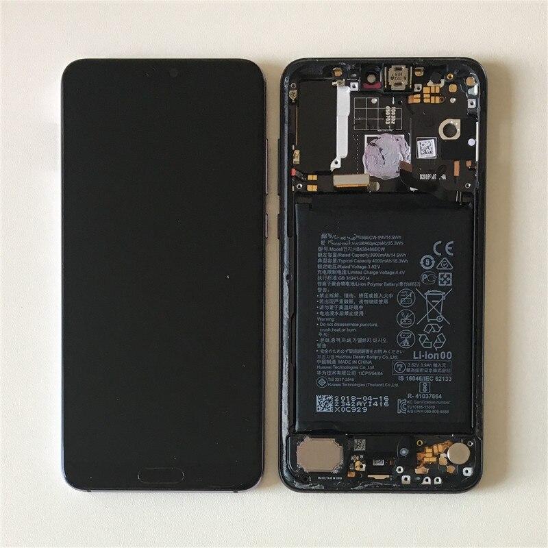 D'origine Axisinternational Écran Cadre Pour 6.1 Huawei P20 Pro LCD Écran Affichage + Écran Tactile Digitizer Pour P20 Pro LCD Cadre