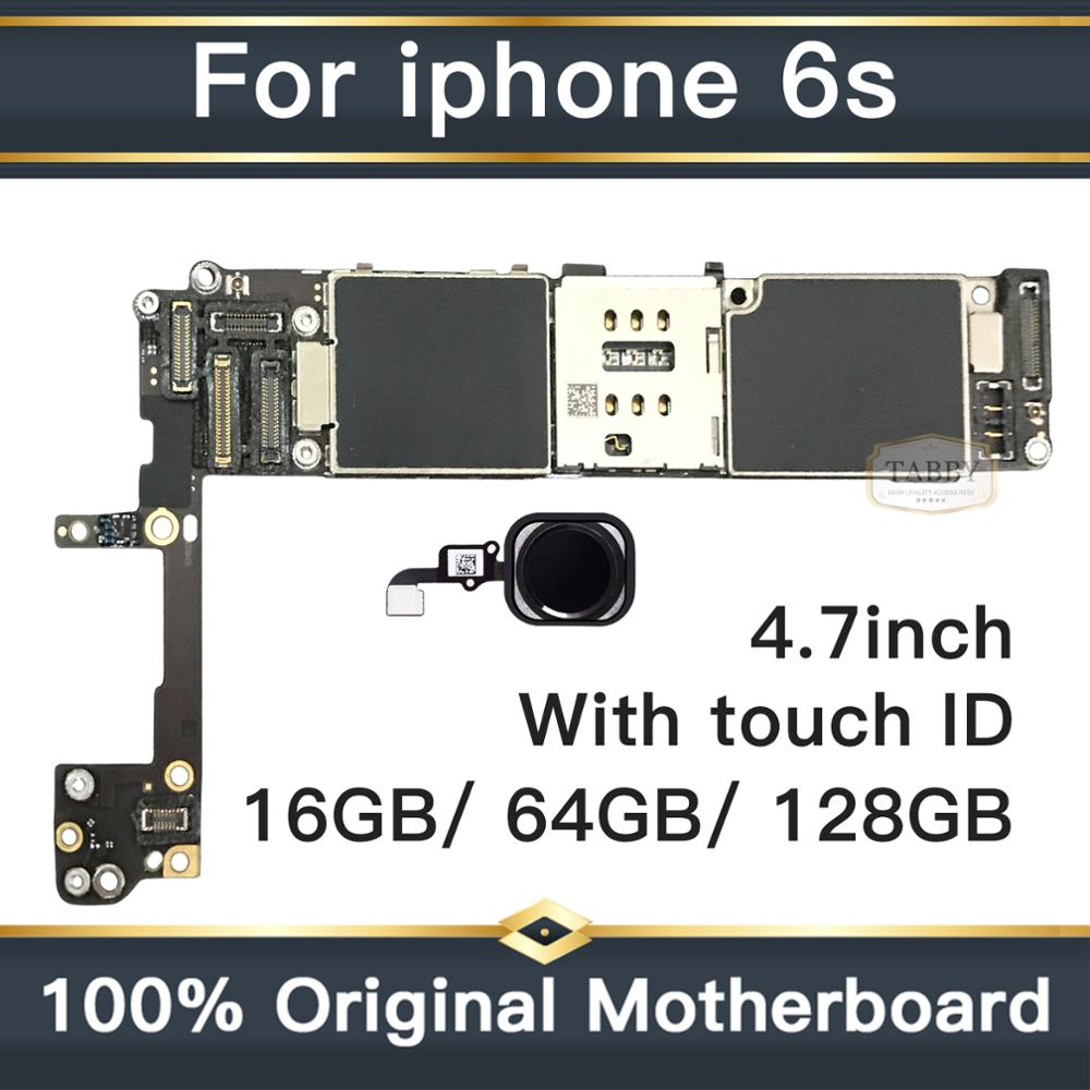 for <font><b>iphone</b></font> <font><b>6S</b></font> Motherboard with Full Chips,Original <font><b>unlocked</b></font> for <font><b>iphone</b></font> <font><b>6s</b></font> <font><b>Logic</b></font> <font><b>boards</b></font> with Touch ID by 16gb / 64gb / 128gb image