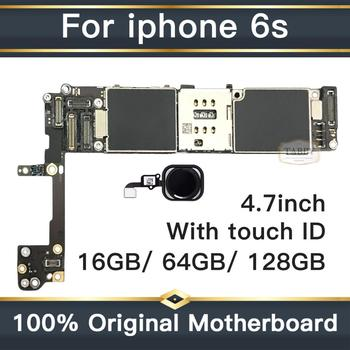 for iphone 6S Motherboard with Full Chips,Original unlocked for iphone 6s Logic boards with Touch ID by 16gb / 64gb / 128gb