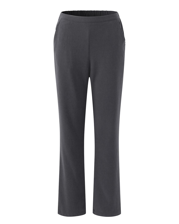 S-2XL Autumn Women Solid Color Warm Elastic Waist Pants Trousers Plus Size Casual Loose Female Elegant Party Long Thicken Pants