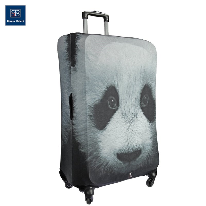 Protective cover for suitcase Panda 9026 L original view window flip pu leather case cover for uhappy up920