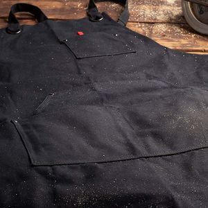Image 5 - Promotion! Black Canvas Work Apron with Tool Pockets Cross Back Straps & Adjustable Apron Heavy Duty Apron With Pockets