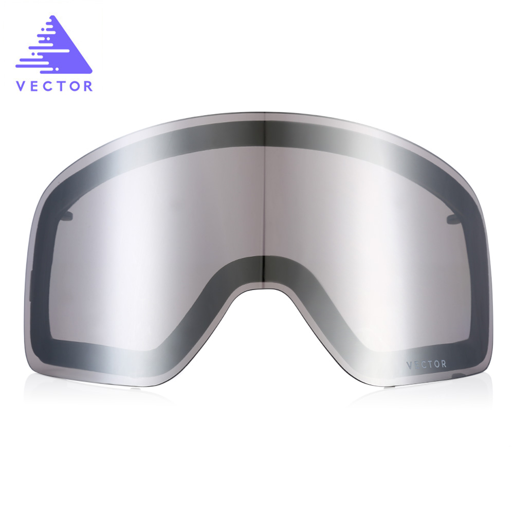 vector Double-layer Anti-fog Original Replacement Lens for Ski Goggles 3 Colors