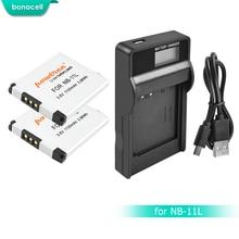 Bonacell NB-11L NB11L 11L Bateria + Carregador Para Canon PowerShot NB A2300 É, A2400 É, A2500, a2600, A3400 É, A3500 É L10 ELPH 110 HS