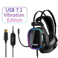Gaming Headset Computer 7.1 For PS4 XBOX ONE PC Windows Mac IOS Android RGP Streamer Immersive Sound Vibration Game Headphones