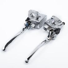2 шт., мотоциклетные хромированные рычаги тормозного цилиндра, рычаги сцепления высокого качества, рычаги сцепления для Suzuki Intruder 800/1400/1500