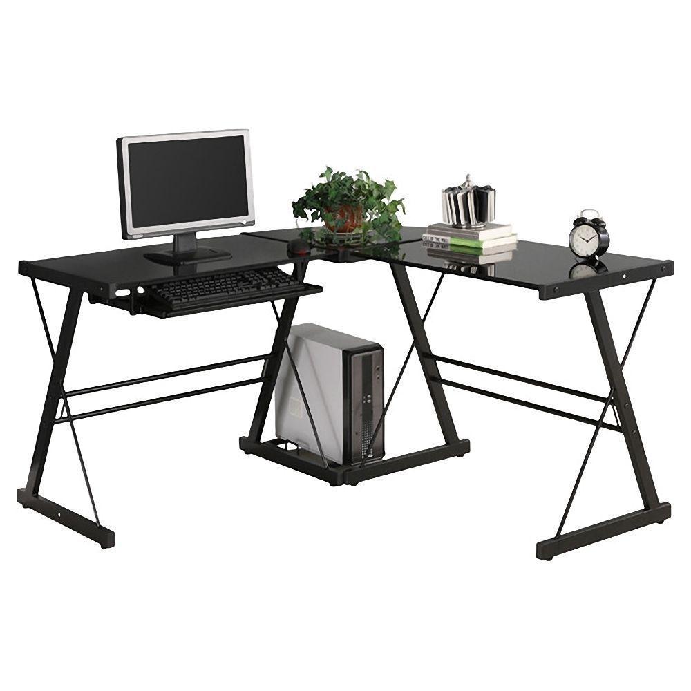 L-Shape Computer Desk Office Home Corner Desk Workstation PC Laptop Work Table US Stock