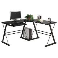 L Shape Computer Desk Office Home Corner Desk Workstation PC Laptop Work Table US Stock