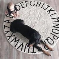 Letter Round Carpet Decorative Luxury Carpet Europe Rug Pastoral Mat For Fluffy Living Room Home Decor Nursery Rugs