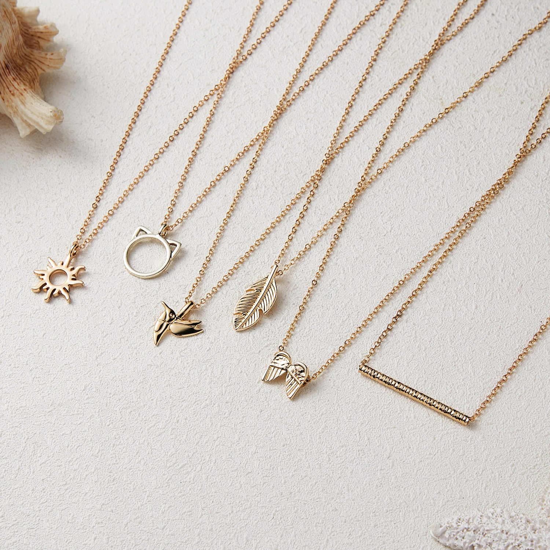 Fashion Gold-Kleur Goede Vibes Alleen Zon Kettingen Voor Vrouwen Sieraden