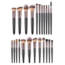 11pcs/12pcs Wood Handle Soft Hair Blusher Foundation Makeup Powder Beauty Eyeshadow Eyeliner Cosmetic Tools Brushes Set
