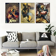 Retro Xmen Wolverine Artwork Vintage Poster Prints Oil Painting On Canvas Wall Art Murals Pictures For Living Room Decoration