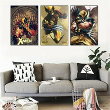 Retro Xmen Wolverine Artwork Vintage Poster Prints Oil Painting On Canvas Wall Art Murals Pictures For Living Room Decoration(China)
