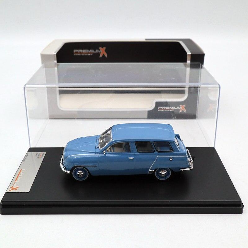 Premium X 1:43 SAAB 95 1961 gris bleu PRD451 modèles moulé sous pression voiture édition limitée Collection jouets voiture moulé sous pression modèles