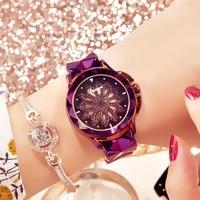 2019 Luxury Brand Women Watches Personality Romantic Zircon Flower Wrist Watch Design Ladies Clock