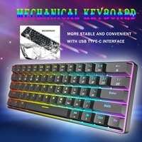 Gateron Switch RGB Game Mechanical Keyboard Optical Axis Can Be Inserted Cable Mechanical Axis 61 key games