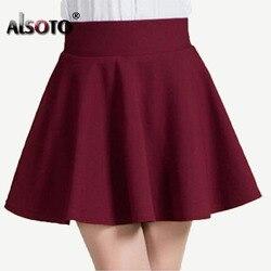 308c649c5 New 2019 Summer style sexy Skirt for Girl lady Korean Short Skater Fashion  female mini Skirt
