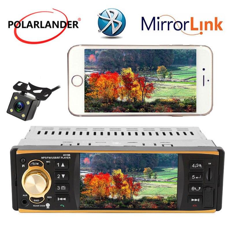 Nouveau 1 Din 4.1 pouce TFT écran Tactile voiture radio lecteur soutien RDS BLUETOOTH mains libres 1080 p film arrière vue caméra de voiture audio