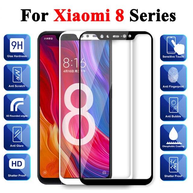 保護ガラスxiaomi mi 8 強化ksiomi liteスクリーンプロテクター 8 プロ 8se xiomi xomi夏mi 8lite 8pro鎧ケース
