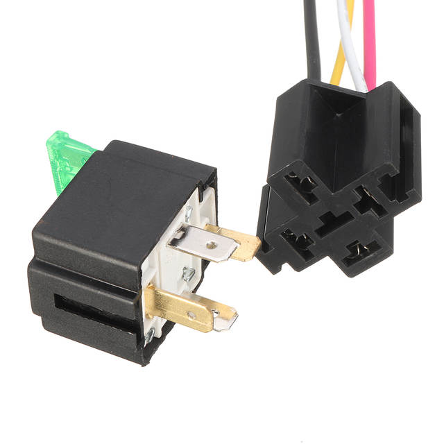 Online Shop Pre Wired 4 Pin Relay Mounting Base Relay Socket Holder on 4 pole switch wiring, 5 prong relay wiring, 4 prong relay harness, 4 prong horn relay, 4 prong starter relay,
